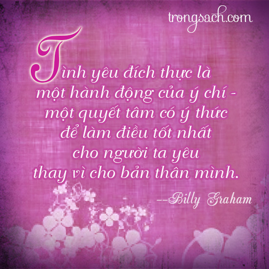 Yêu là làm điều tốt nhất cho người ta yêu